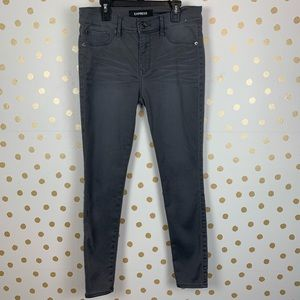 Express Gray Skinny Jeans